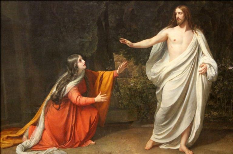 Gesù risorto e Maria Maddalena